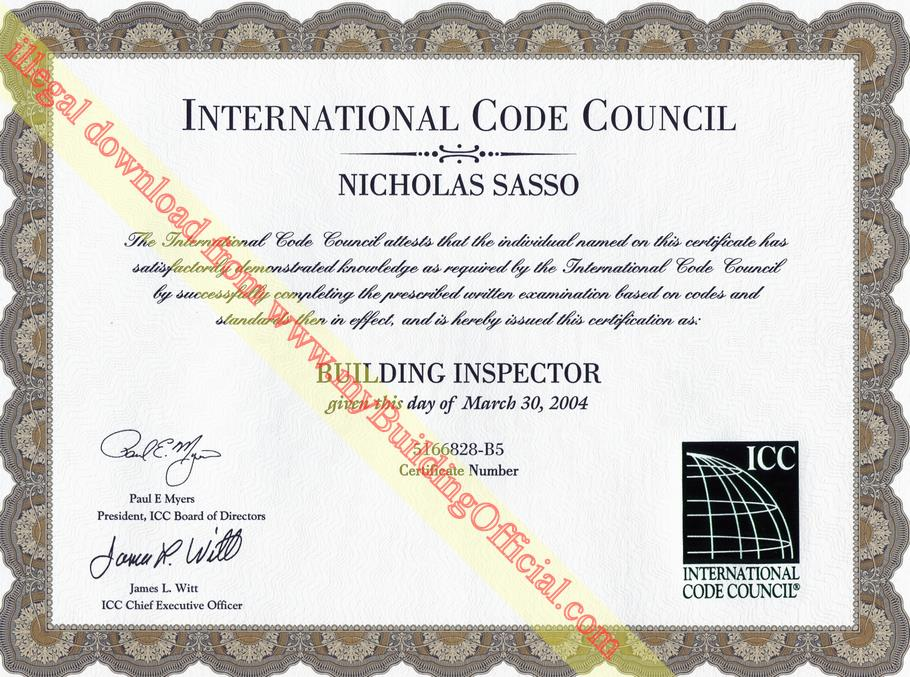 Nick Sasso Florida Building Code Expert Certifications Building