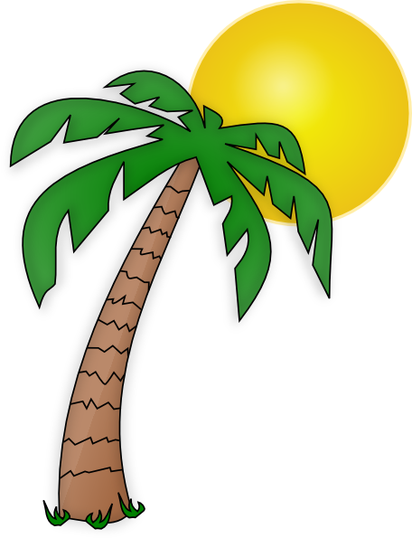 picture of palm tree and sun